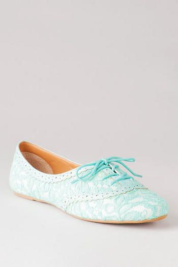 APPLE TREE LACE OXFORD FLAT - I kind of love these...something blue, super cute and comfortable