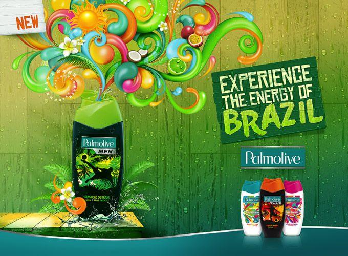 PALMOLIVE MEN Brasil-suihkusaippuat