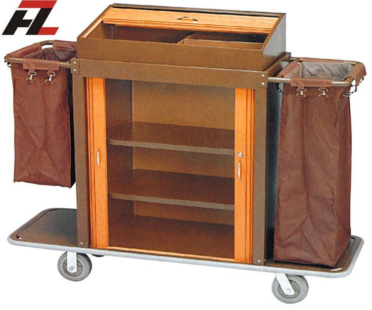 Hotel Metal Rolling Housemaid Trolley-Guest Room Service Trolley