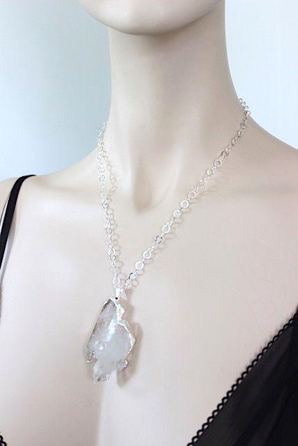 Crystal Pendant Silver 3