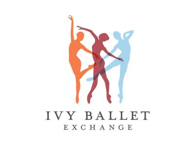 Logo concept for a client. The colors represent the 3 entities of Princeton, Harvard, and Columbia which make up the Ivy Ballet Exchange.