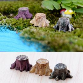 10pcs/lot Crafts Decorations Miniature Multicolour Tree Stump