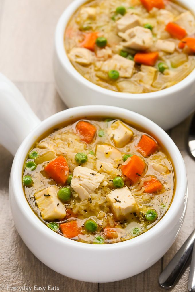One Pot Chicken And Rice Soup Recipe Easy Chicken Rice Soup