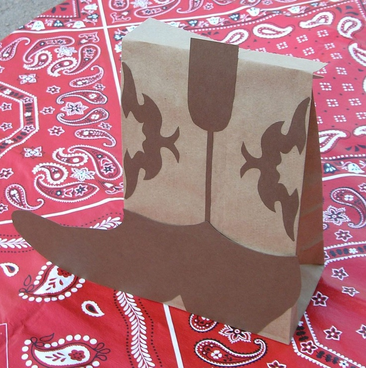 Boots Birthday Party Treat Sacks Cowgirl Western Horse Theme Goody Bags by jettabees on Etsy. $15.00, via Etsy.