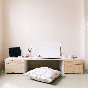 Floor desk Sewing station and Desks on Pinterest