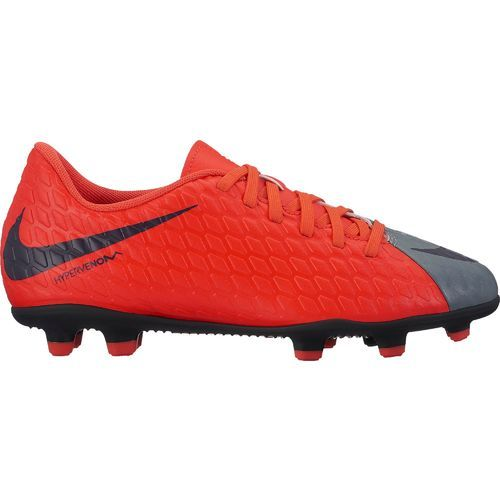 Nike Boys\u0027 Jr Hypervenom Phade III FG Soccer Cleats (Cool Grey/Purple  Dynasty/Max Orange, Size 1) - Youth Soccer Shoes at Academy Sports