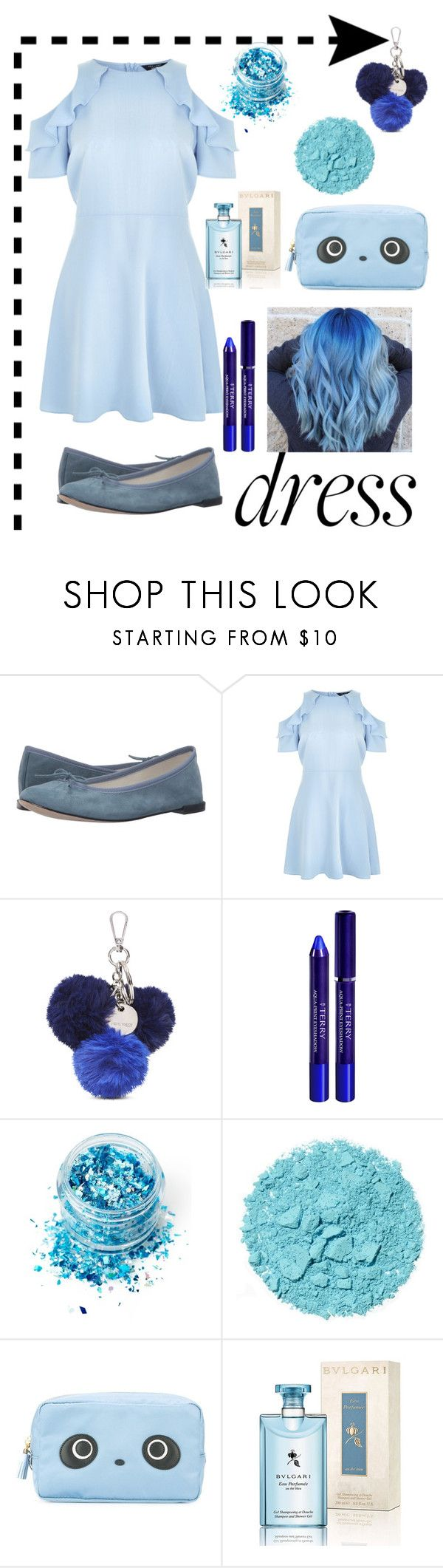 """🔛SUMMER"" by tinathequeen ❤ liked on Polyvore featuring Repetto, New Look, Nine West, By Terry, In Your Dreams, Anya Hindmarch and Bulgari"