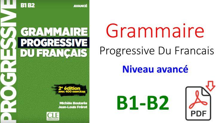 Grammaire Progressive Du Francais Niveau Avance Pdf Download Books Books Education
