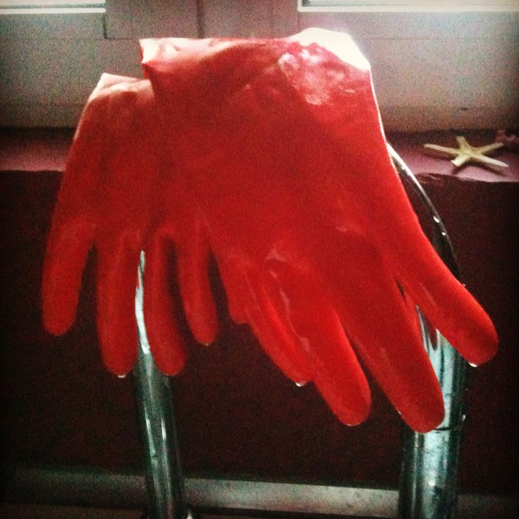 Red gloves, one day in athens, greece, details, home