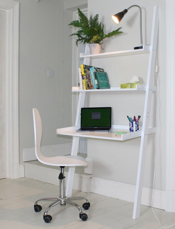 Sue Ryder Online - Affordable Home Finds | Affordable, brandnewinterior related homewares, furniture and accessories the Sue RyderCharity hasset up an online shop.  Perfect for small spaces, or if you need to squeeze in a desk area to a space, this leaning ladder desk is ideal as it uses the vertical #homdecor #desk #candleholder #homeideas #interiors #charity #smallspaces #homeoffice #deskideas #shelving #homewares #interiorinspo
