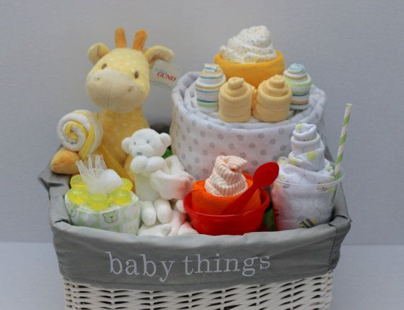 gender neutral baby gift basket baby shower gift unique baby gift