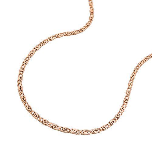 Halsband S-länk rött guld 14K Guld