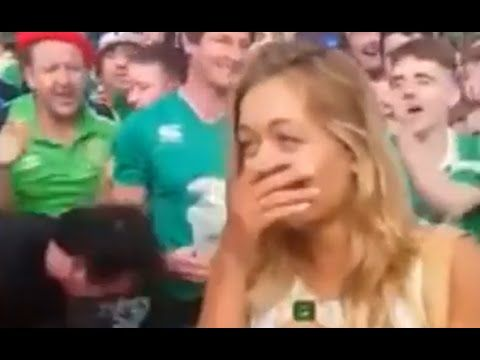 Hundreds of Irish fans serenade French girl at Euro 2016 in Bordeaux || Metro News