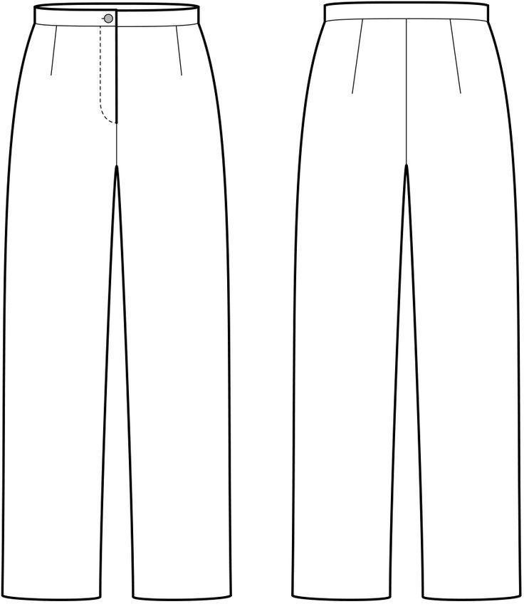 Vorder- und Rückansicht der technische Zeichnung einer Hose  #der #einer #Hose …