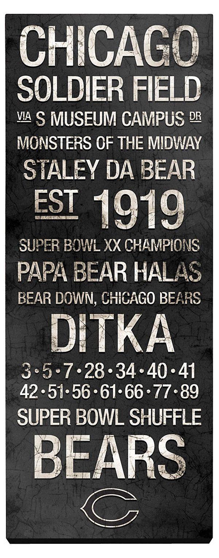 Best 25 chicago bears room ideas on pinterest bears football one kings lane game day chicago bears vintage subway art amipublicfo Choice Image