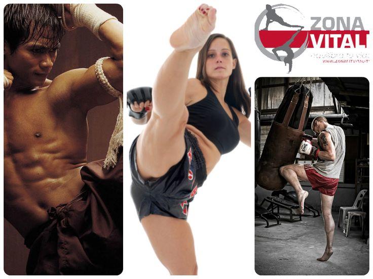 """MUAY THAI: conocido también como boxeo tailandés, es """"el arte de los ocho miembros"""" ya que en las técnicas de golpeo (a piernas, cuerpo y cabeza) se utilizan puños, codos, piernas y rodillas;"""