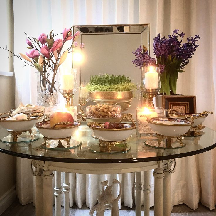 Happy Norouz !  1394  Persian New Year Table / Haftsin