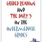 Guided Reading and the Daily 5 in the Intermediate Grades Schedule. This is a FREE packet that contains a daily schedule for guided reading groups and much more...