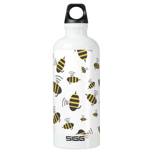 Buzzing Bumble Bee Cartoon SIGG Traveler 0.6L Water Bottle