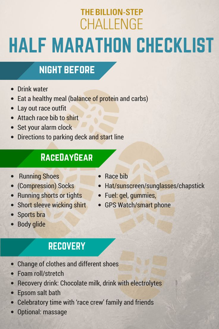 If you're prepping for a half marathon, or any long distance run, this checklist is essential! #running #fitness #halfmarathon