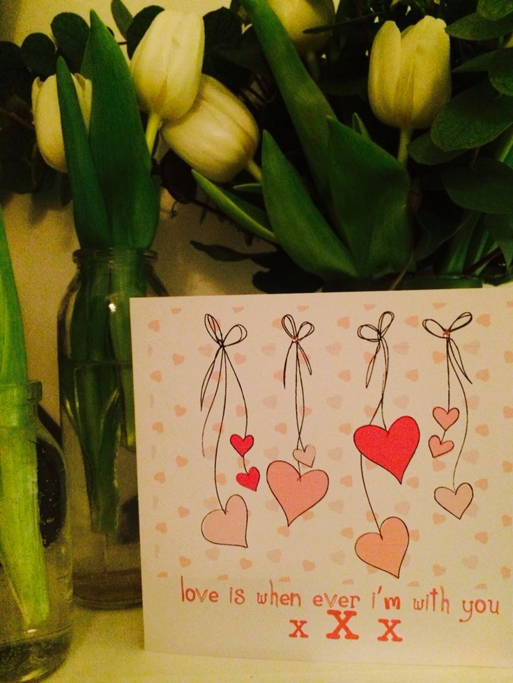 Valentines cards love hearts