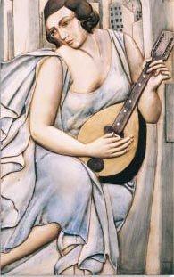 Dama Azul con guitarra. Referencia 4042 de nuestro catálogo