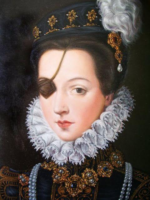 Ana de Mendoza y de la Cerda era una aristócrata española escandalosamente rica, nacida el 29 de junio de 1540. Ella era considerada una de las mayores bellezas de su época en Europa, a pesar de que perdió un ojo en una pelea de espadas con uno de los jóvenes a su padre. Tal vez el parche en el ojo hacía más intrigante. Se casó a la edad de 12 a Ruy Gómez de Silva, príncipe de Éboli.