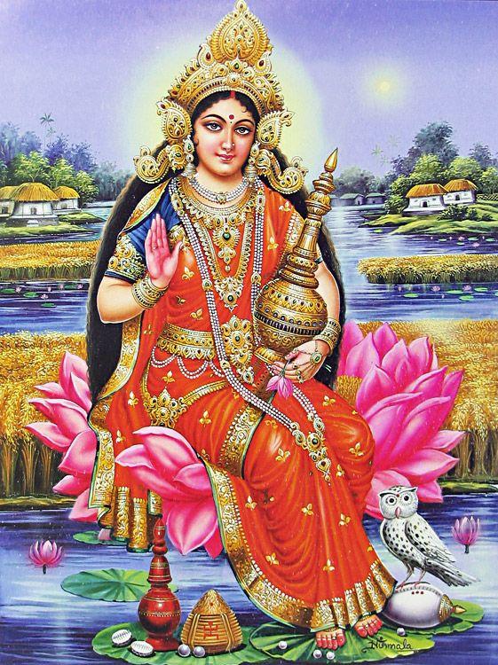 Hindu goddess lakshmi devi phrase... super