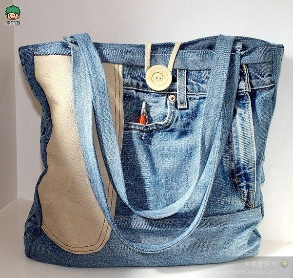 Como hacer un bolso reciclando pantalones vaqueros