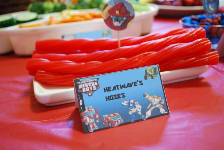 Simply Mangerchine: Noah's Trans-four-mers Rescue Bots Party