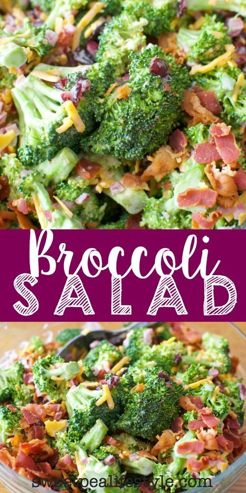 This Broccoli Salad will be going on my Easter dinner menu. Easy to assemble before serving, great for potlucks, picnics, and sunday suppers.