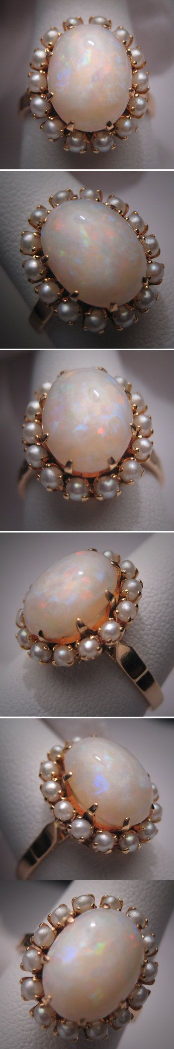 this needs to be on my finger.     Antique Opal Seed Pearl Ring Vintage by AawsombleiJewelry on Etsy, $1250.00