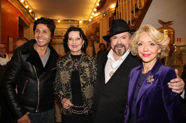 Jean-Luc Lahaye, Catherine Lopez, Eric Morena et Corinne Le Poulain - Concert d'Eric Morena au Théâtre Déjazet pour son album