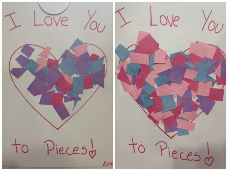 I Love You to Pieces! -- Easy craft for toddlers and preschooler