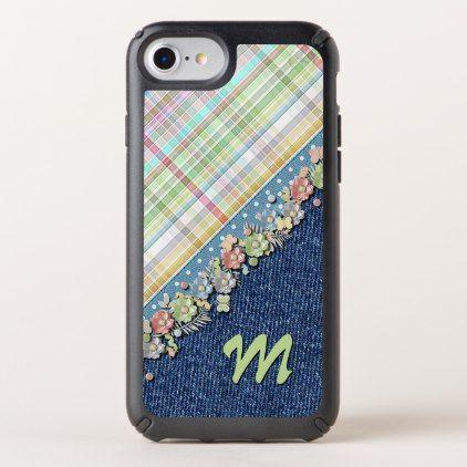 Custom Cute Polkadots Pastel Tartan Pattern Speck iPhone Case - summer gifts season diy template ideas