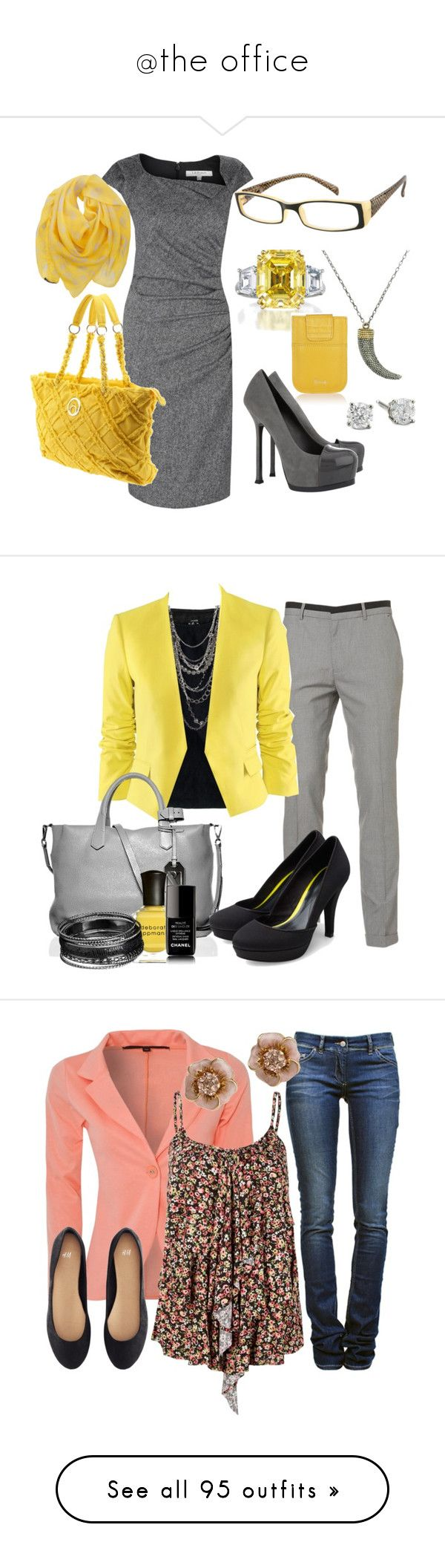 """""""@the office"""" by lluikart ❤ liked on Polyvore featuring L.K.Bennett, Big Buddha, Harry Winston, Harrods, Yves Saint Laurent, Alexander McQueen, tote, 14k, patent shoes and yellow"""