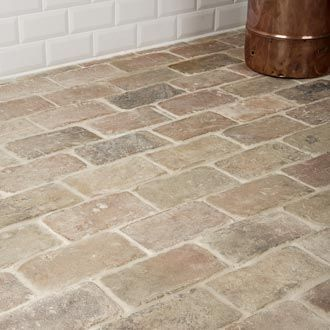 Antique Briquette Flooring: Entry way and maybe cool for in the laundry room
