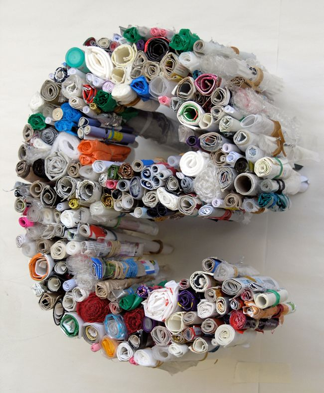 Rolled rubbish typography by anna garforth