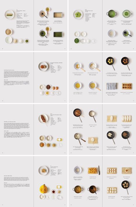 "Instructions for making traditional Japanese sweets are displayed as part of a ""simple and clean"" layout in this cookbook by designer Moé Takemura."