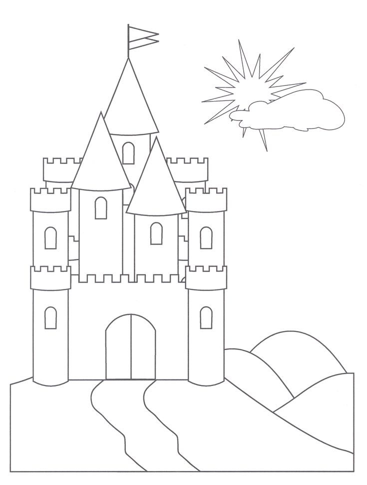 Easy Castles Coloring Pages For Kids
