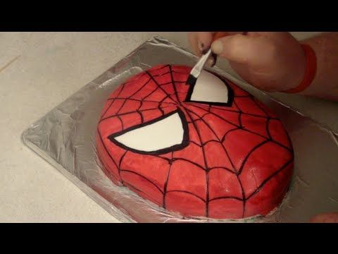 Step by step guide on how to make your very own spider-man birthday cake for someone special great for boys or girls birthday parties  Music by http://www.danosongs.com