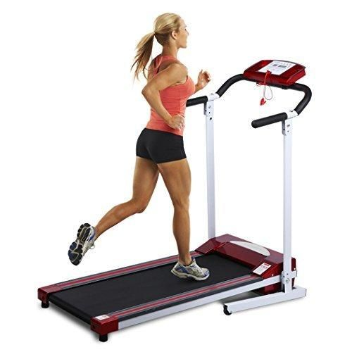 Ancheer Folding Treadmill Electric Exercise Running Machine with LED Monitor Red