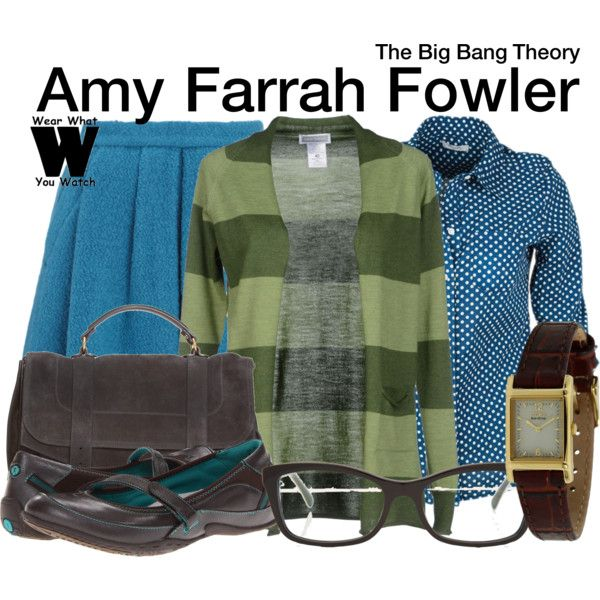 Inspired by Mayim Bialik as Amy Farrah Fowler on The Big Bang Theory.