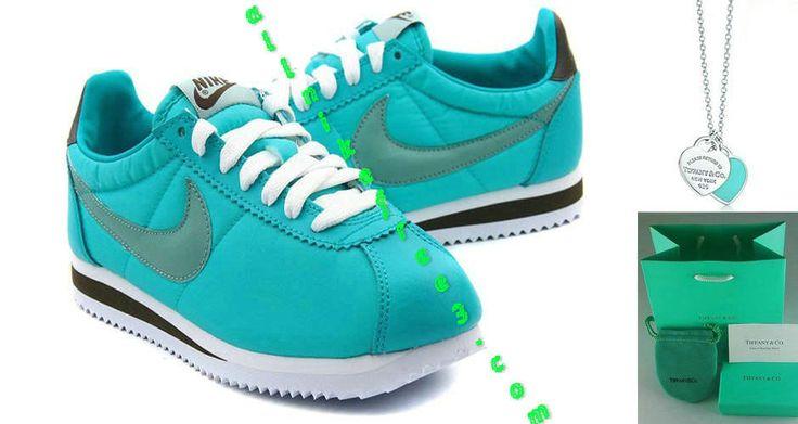 Nike Classic Cortez Nylon Womens Tiffany Blue Calypso Blue 457226 303