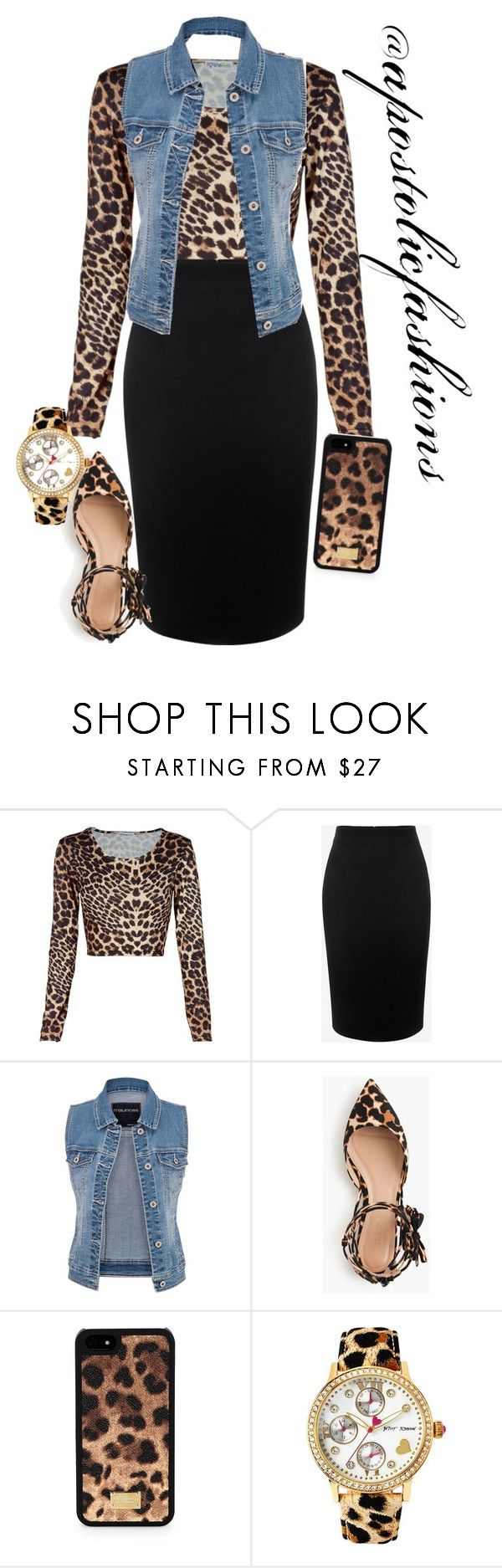 """""""Apostolic Fashions #1391"""" by apostolicfashions on Polyvore featuring Alexander McQueen, maurices, J.Crew, Dolce&Gabbana and Betsey Johnson"""