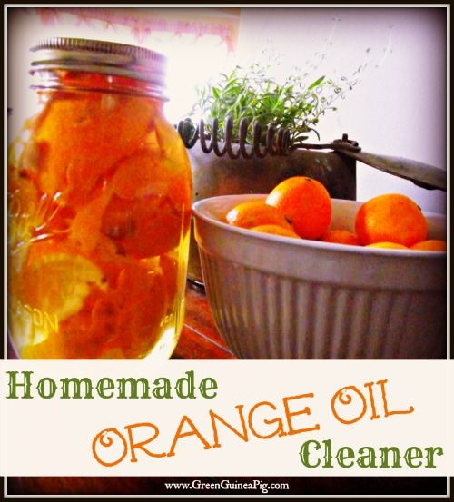 Make yourself some homemeade orange oil cleaner! via The Green Guinea Pig
