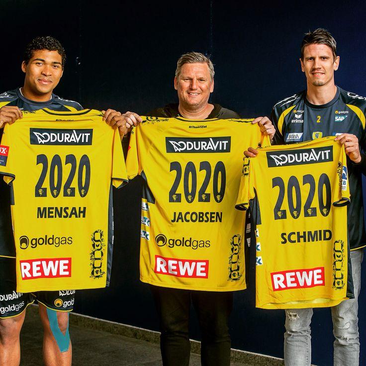 Bleiben Löwen: Mads Mensah, Nikolaj Jacobsen und Andy Schmid haben bis 2020 verlängert. #1team1ziel