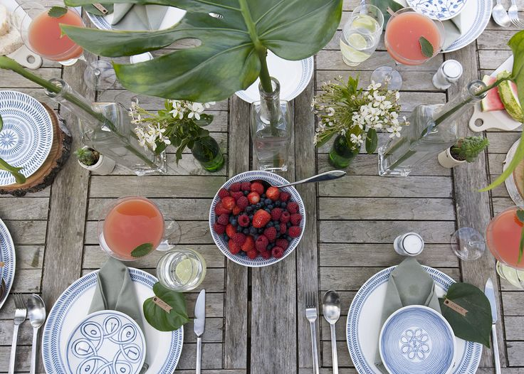 Brunch style, with a gorgeous new tableware collection