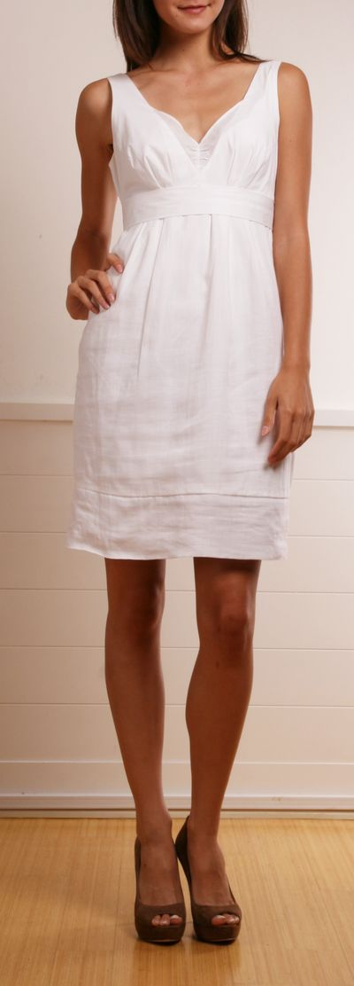 Brunello Cucinelli White Ramie Dress