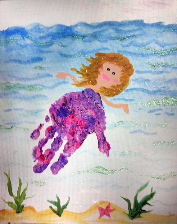 Custom Hand print or Foot print Painting by PattycakeArtworks, $40.00